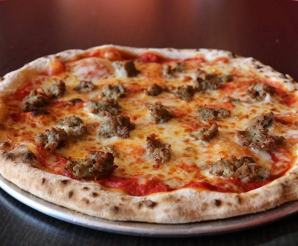 sausage pizza from 1000 Degrees Neapolitan restaurant
